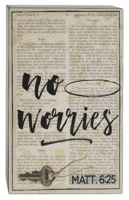 No Worries Block Plaque  -     By: Barbara Lloyd