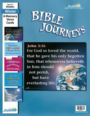 Bible Journeys Middler (Grades 3-4) Memory Verse  Visuals  -