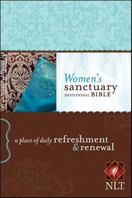 NLT Women's Sanctuary Devotional Bible, Paperback  -
