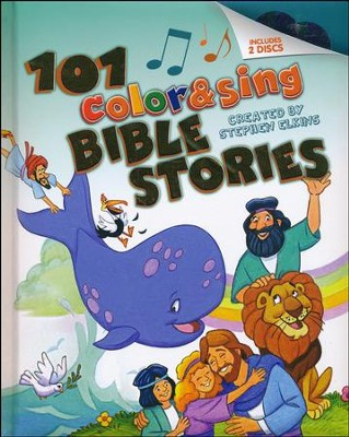 101 Color & Sing Bible Stories, hardcover padded  -     By: Stephen Elkins