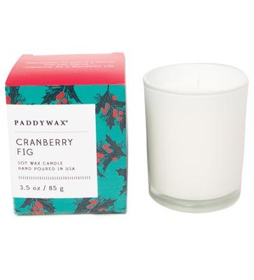 Glass Candle, Cranberry Fig, 3 ounce  -