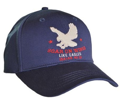 Soar on Wings Like Eagles Cap, Navy Blue  -