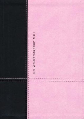 KJV Life Application Study Bible, TuTone Dark Brown/Pink Indexed Leatherlike  -