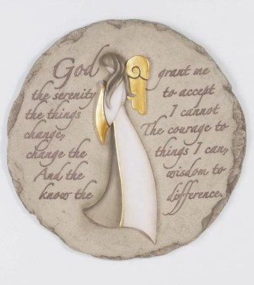 Angel, Serenity Prayer Stepping Stone  -