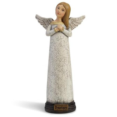 Baptism Prayer Angel Figurine  -     By: Teresa Kogut