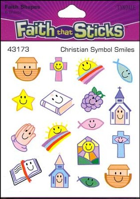 Stickers: Christian Symbol Smiles  -