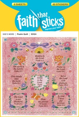 Stickers: Psalms Quilt   -