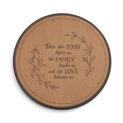 Bless This Food Lazy Susan   -