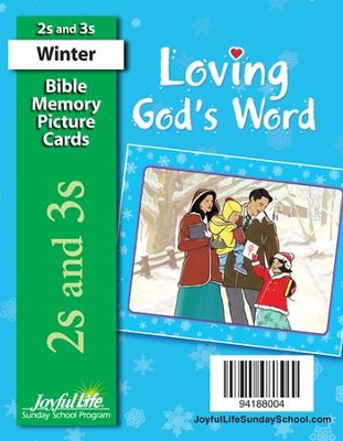 Loving God's Word (ages 2 & 3) Mini Bible Memory Picture Cards  -