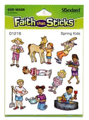 Stickers: Spring Kids   -