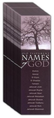 Old Testament Names of God, Bookmarks, 25   -