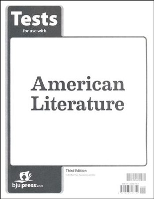 BJU American Literature Grade 11 Tests (Third Edition)  -