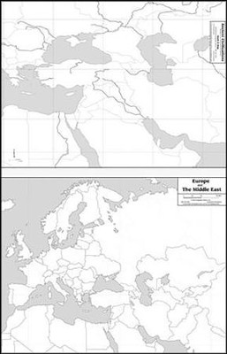 Ancient Civilizations/Europe and the Middle East Laminated Mark-It Map  -