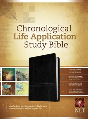 NLT Chronological Life Application Study Bible, soft imitation leather, black/onyx  -