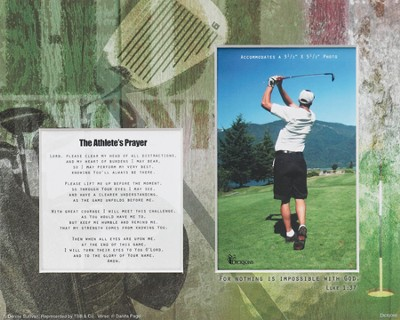 For Nothing is Impossible Athlete Player Golf Photo Mat  -