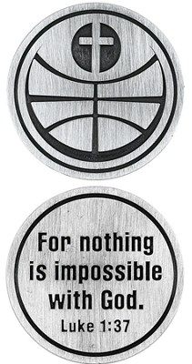 For Nothing is Impossible Basketball and Cross Pocket Stone  -