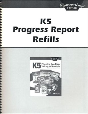 K5 Homeschool Progress Report Refills   -