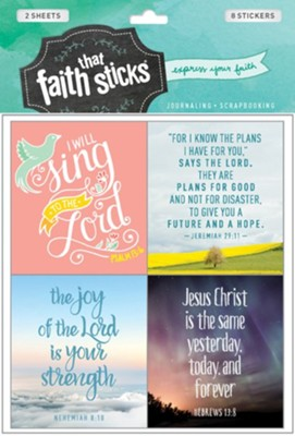 Faith That Sticks: Stickers Jeremiah 29:11 +   -     By: Tyndale