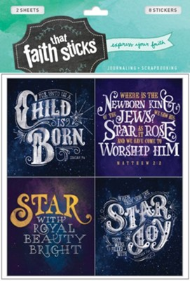 Faith That Sticks: Stickers Christmas Greetings   -     By: Tyndale