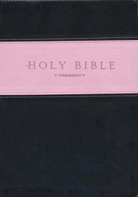 NLT Holy Bible, Giant Print TuTone Imitation Leather, pink/brown  -