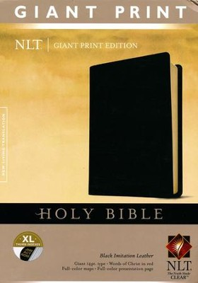 NLT Holy Bible, Giant Print Imitation Leather black Indexed  -