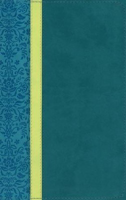 NLT Personal Size Bible, Large Print, soft imitation leather, teal/avocado/jade  -