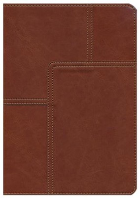 NLT Life Application Study Bible, soft imitation leather, midtown brown  -