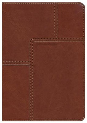 NLT Life Application Study Bible, soft imitation leather, midtown brown with thumb index  -