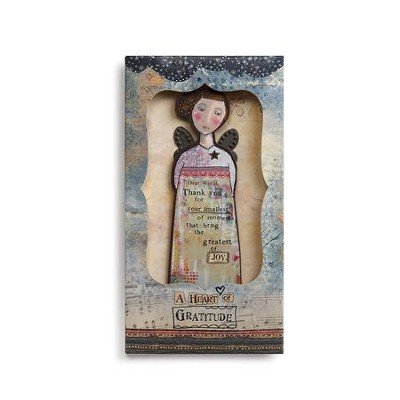 Thankful Heart Angel Ornament in Presentation Slipcase   -