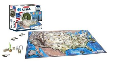 4D Cityscape History Over Time Puzzle, USA  -