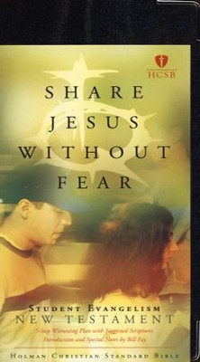 HCSB TruthQuest Share Jesus Without Fear NT, Bonded  Leather, Black  -