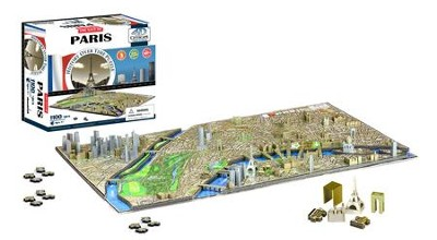4D Cityscape History Over Time Puzzle, Paris  -