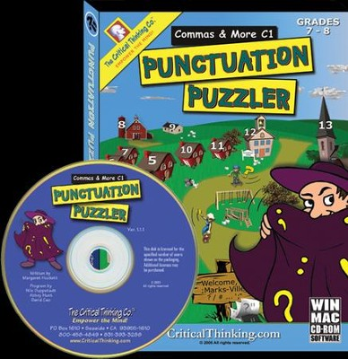 Punctuation Puzzlers: Commas C1 on CD-ROM, Grades 7-8   -