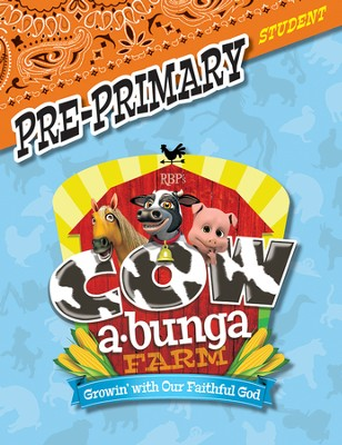 Cowabunga Farm VBS: Pre-Primary Student Activity Sheets, KJV   -