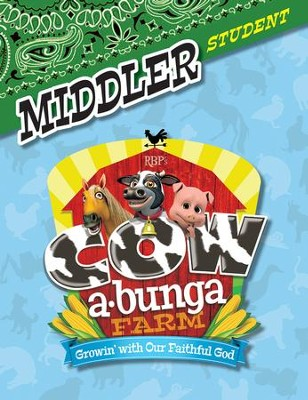 Cowabunga Farm VBS: Middler Student Activity Sheets, KJV   -