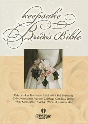 HCSB Bride's Bible White with Gold                                                        - Imperfectly Imprinted Bibles  -