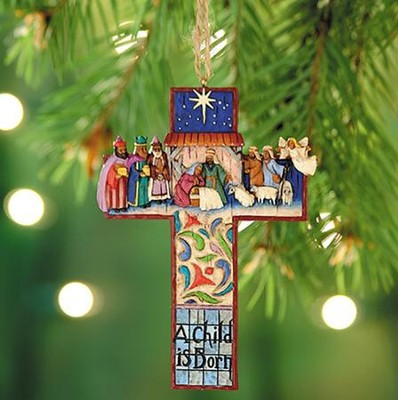 Nativity Cross Ornament from Heartwood Creek   -     By: Jim Shore