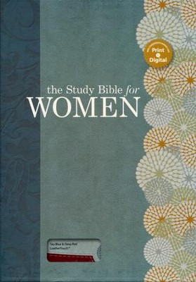 HCSB The Study Bible for Women, Sky Blue and Red Clay LeatherTouch  -