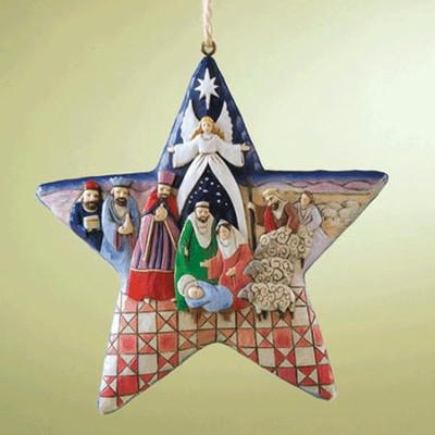 Heartwood Creek Nativity Star Ornament   -     By: Jim Shore