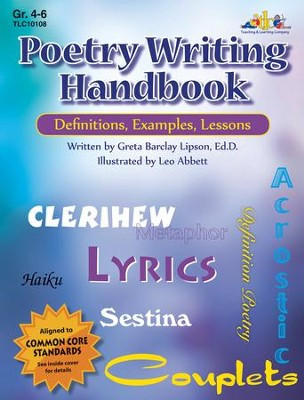 Poetry Writing Handbook: Definitions, Examples, Lessons,  Grades 4-6  -     By: Greta Barclay Lipson