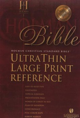 HCSB UltraThin Reference Bible, Large Print Bonded Leather, Black                 -