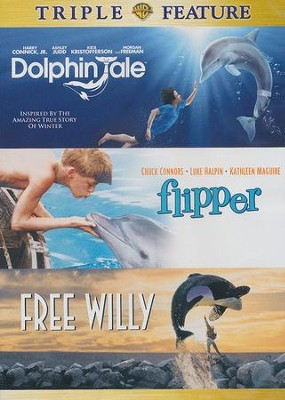 Triple Feature DVD: Dolphin Tale, Flipper, Free Willy   -