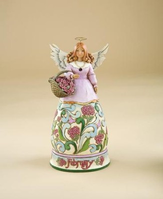 February Birthstone Angel Figurine   -     By: Jim Shore