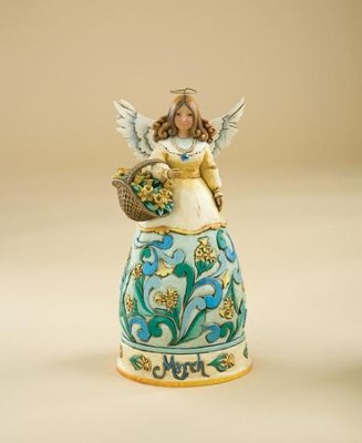 March Birthstone Angel Figurine   -     By: Jim Shore