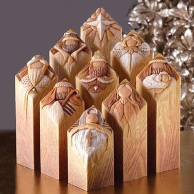 Pillars of Heaven Nativity Set 9 Pieces   -