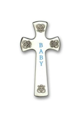 Wall Cross, Baby, Blue  -