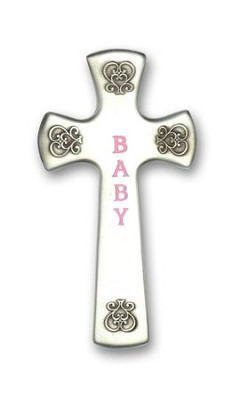 Wall Cross, Baby, Pink  -