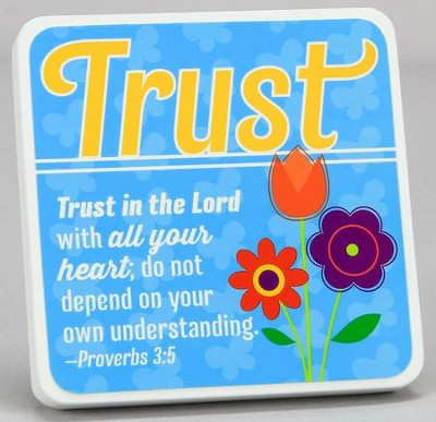 Trust, Flower Bunch Tabletop Plaque  -
