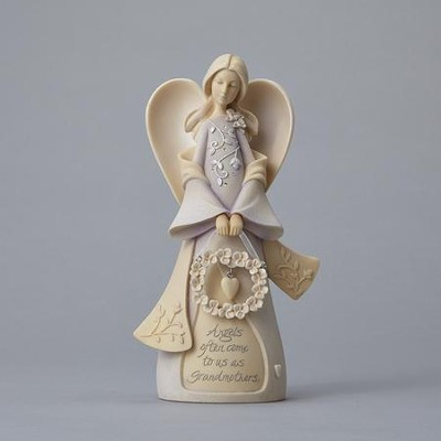 Grandmother Angel Figurine  -     By: Karen Hahn