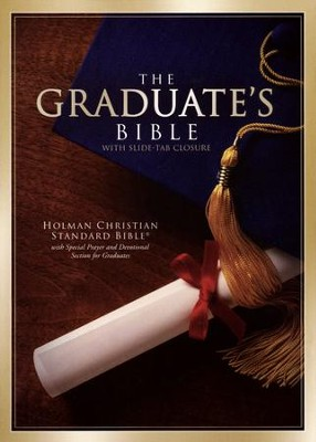 HCSB Graduate's Bible - Burgundy Bonded Leather  With Slide Tab Closure  -